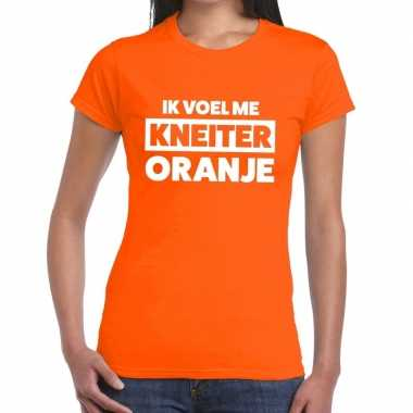 Ik voel me kneiter oranje koningsdag dames t-shirt kopen