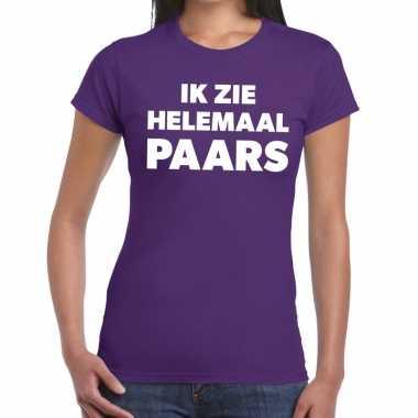 Ik zie helemaal paars tekst dames t-shirt kopen