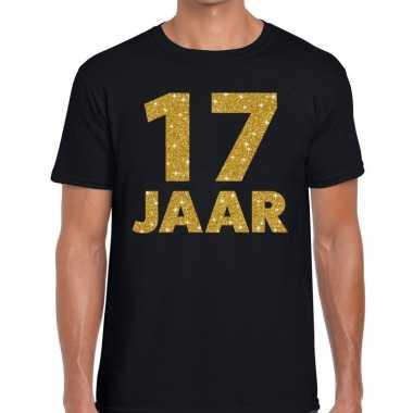 Jaar goud glitter verjaardag kado zwart heren t-shirt kopen