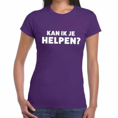 Kan ik je helpen beurs/evenementen paars dames t-shirt kopen