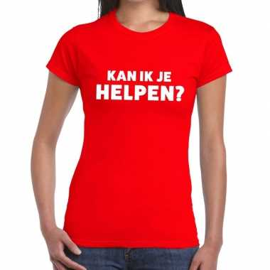 Kan ik je helpen beurs/evenementen rood dames t-shirt kopen