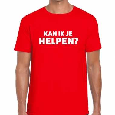 Kan ik je helpen beurs/evenementen rood heren t-shirt kopen