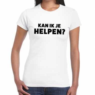 Kan ik je helpen beurs/evenementen wit dames t-shirt kopen
