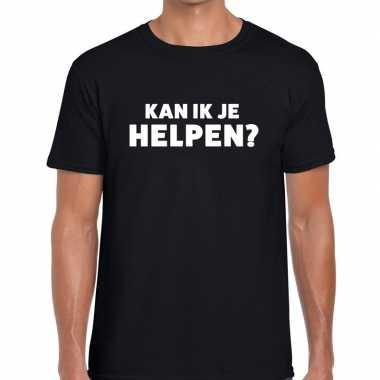 Kan ik je helpen beurs/evenementen zwart heren t-shirt kopen