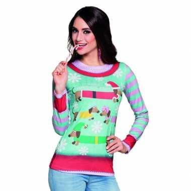 Kers kerst opdruk dames t-shirt