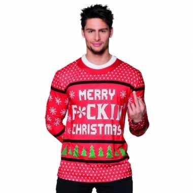 Kers kerst teksttrui opdruk heren t-shirt