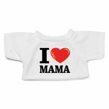 Knuffel kleding i love mama wit xl clothies knuffel t-shirt kopen