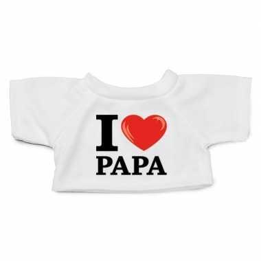 Knuffel kleding i love papa wit xl clothies knuffel t-shirt kopen