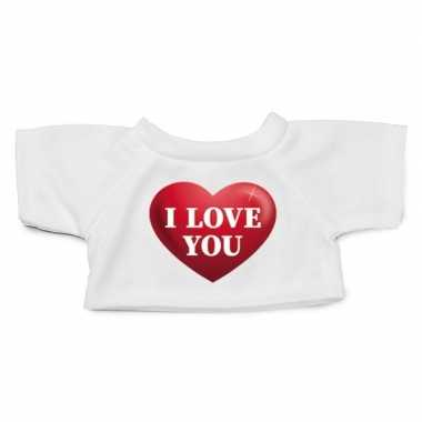 Knuffel kleding i love you har xl clothies knuffel t-shirt kopen