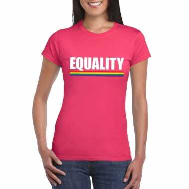 Lgb roze equality dames t-shirt kopen