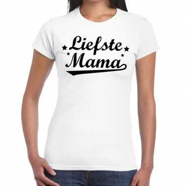 Liefste mama cadeau wit dames t-shirt kopen