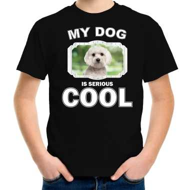 Maltezer honden my dog is serious cool zwart kinderen t-shirt kopen
