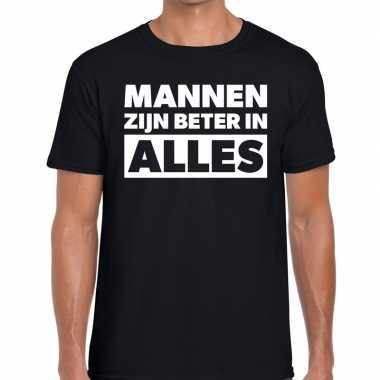 Mannen zijn beter alles tekst zwart heren t-shirt kopen