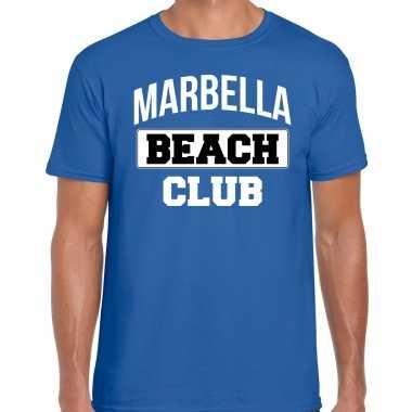 Marbella beach club zomer blauw heren t-shirt kopen