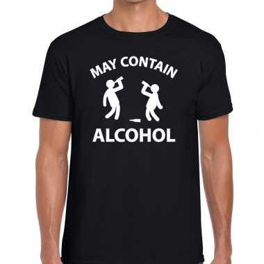 May contain alcohol fun zwart heren t-shirt kopen