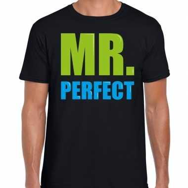 Mr. perfect fun tekst zwart heren t-shirt kopen