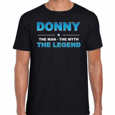 Naam cadeau donny the legend zwart heren t-shirt kopen