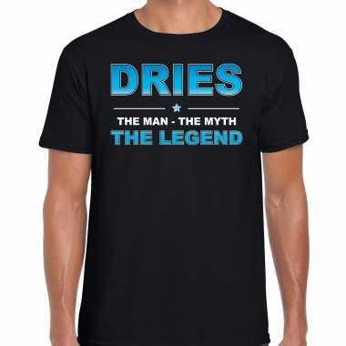 Naam cadeau dries the legend zwart heren t-shirt kopen