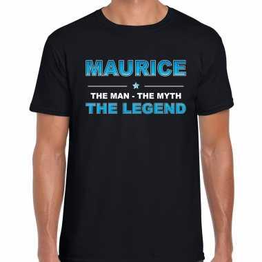 Naam cadeau maurice the legend zwart heren t-shirt kopen