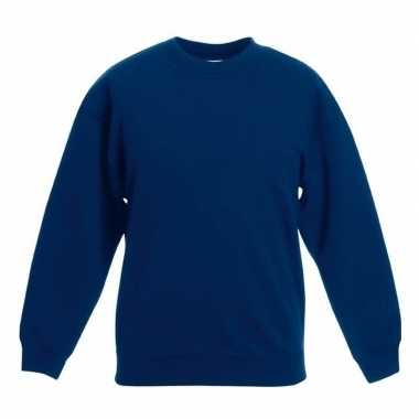 Navy blauwe katoenmix sweater jongens t-shirt kopen