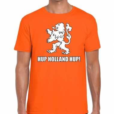 Nederland supporter hup holland hup oranje heren t-shirt kopen