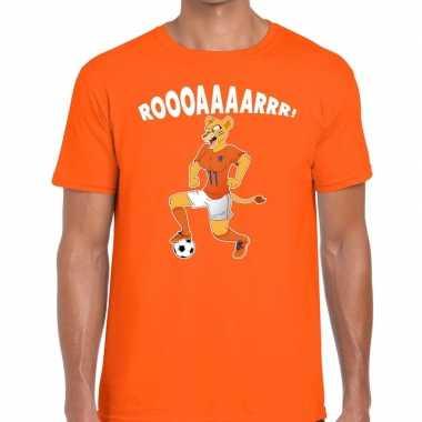 Nederland supporter leeuwin roooaaaarrr oranje heren t-shirt kopen