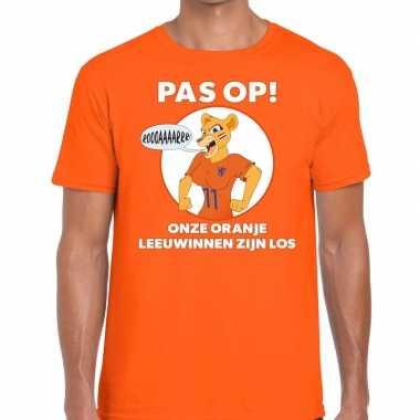 Nederland supporter leeuwinnen zijn los oranje heren t-shirt kopen