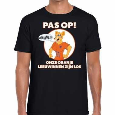 Nederland supporter leeuwinnen zijn los zwart heren t-shirt kopen