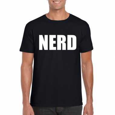 Nerd tekst zwart heren t-shirt