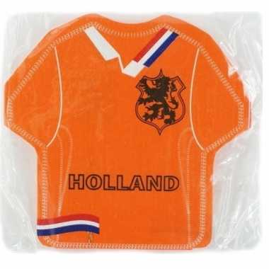 Oranje holland servetten vorm t-shirt