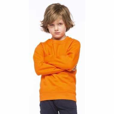 Oranje katoenmix sweater kinderen t-shirt kopen