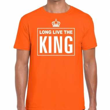 Oranje long live the king engels heren t-shirt kopen