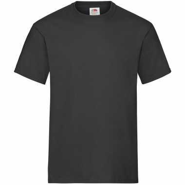 Pack maat l zwarte s ronde hals gr heavy t heren t-shirt kopen