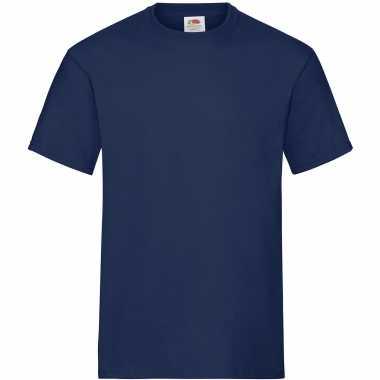 Pack maat m donkerblauwe/navy s ronde hals gr heavy t heren t-shirt