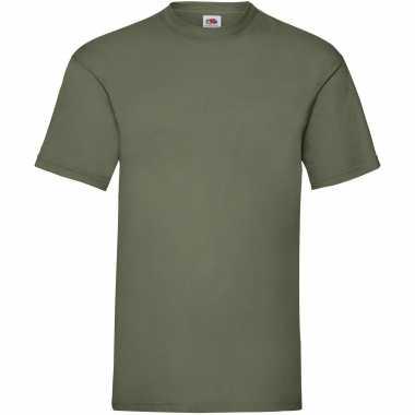 Pack maat m olijf groene s ronde hals gr valueweight heren t-shirt kopen
