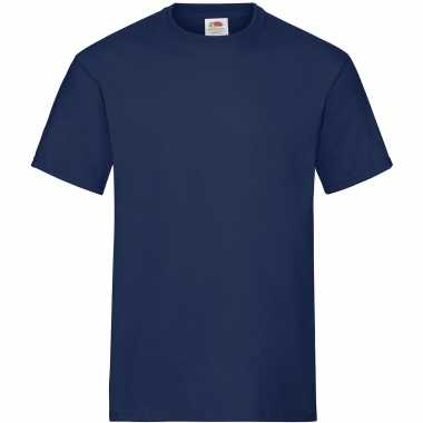 Pack maat s donkerblauwe/navy s ronde hals gr heavy t heren t-shirt