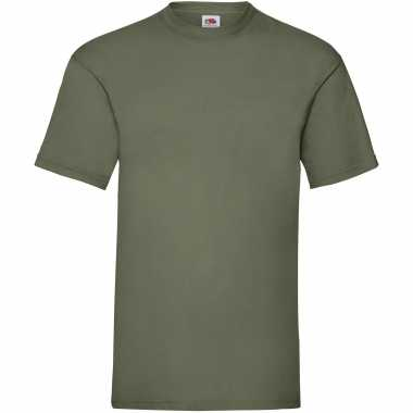 Pack maat xl olijf groene s ronde hals gr valueweight heren t-shirt kopen