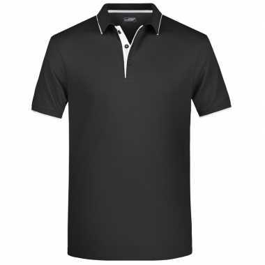 Polo golf pro premium zwart/wit heren t-shirt kopen