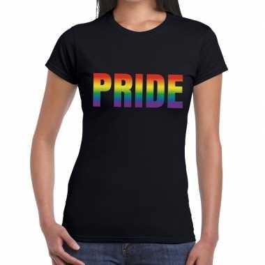 Pride gaypride zwart dames t-shirt kopen