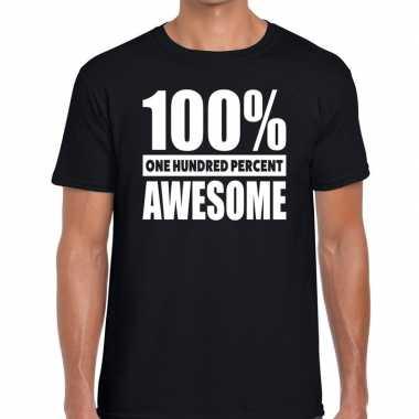 Procent awesome tekst zwart heren t-shirt kopen