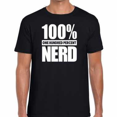 Procent nerd tekst zwart heren t-shirt kopen
