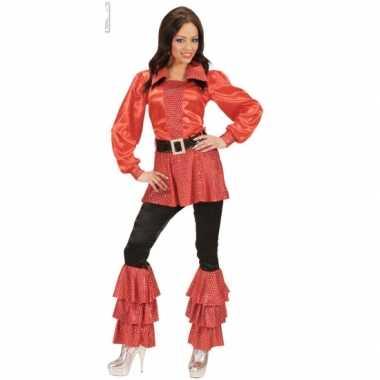 Rood lang dames t-shirt