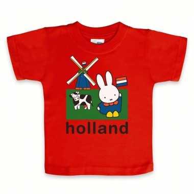 Rood nijntje baby holland t-shirt