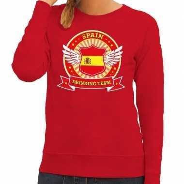 Rood spain drinking team sweater dames t-shirt kopen