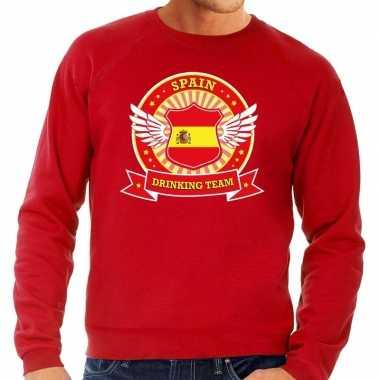 Rood spain drinking team sweater heren t-shirt kopen