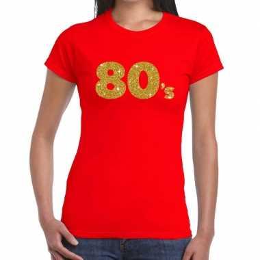 's goud glitter rood dames t-shirt kopen