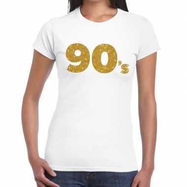's goud glitter wit dames t-shirt kopen