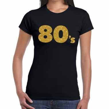 's goud glitter zwart dames t-shirt kopen