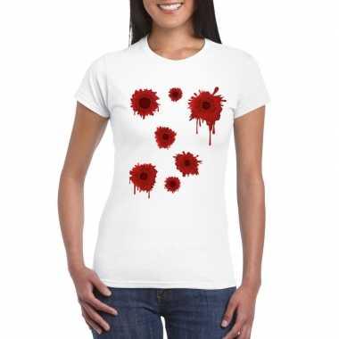 Schotwonden wit dames t-shirt kopen