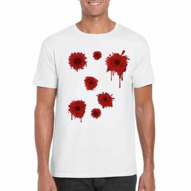Schotwonden wit heren t-shirt kopen